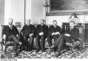 Volksbeauftragte Landsberg, Scheidemann, Noske, Ebert, Wissell