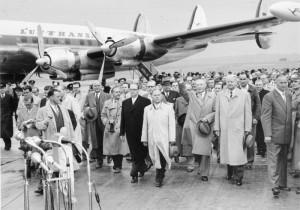 Köln-Wahn, Rückkehr Konrad Adenauer aus Moskau