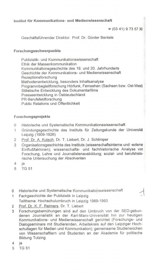Forschungsbericht  Univ. Leipzig 1995 von 1996