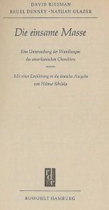 Innentitel von Riesman u.a.